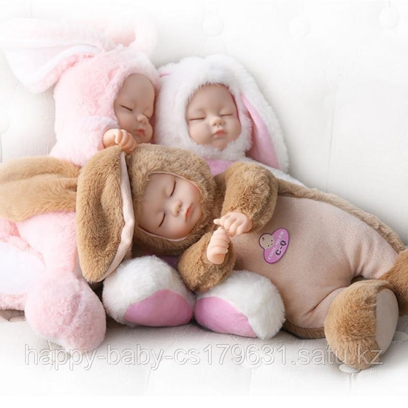 Кукла honey bunny плюшка в костюме зайца ( спящая) 40 см