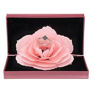 3D Роза, уникальная складная роза, ювелирная коробочка под кольцо, Розовая
