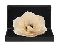 3D Роза, уникальная складная роза, ювелирная коробочка под кольцо, Черная