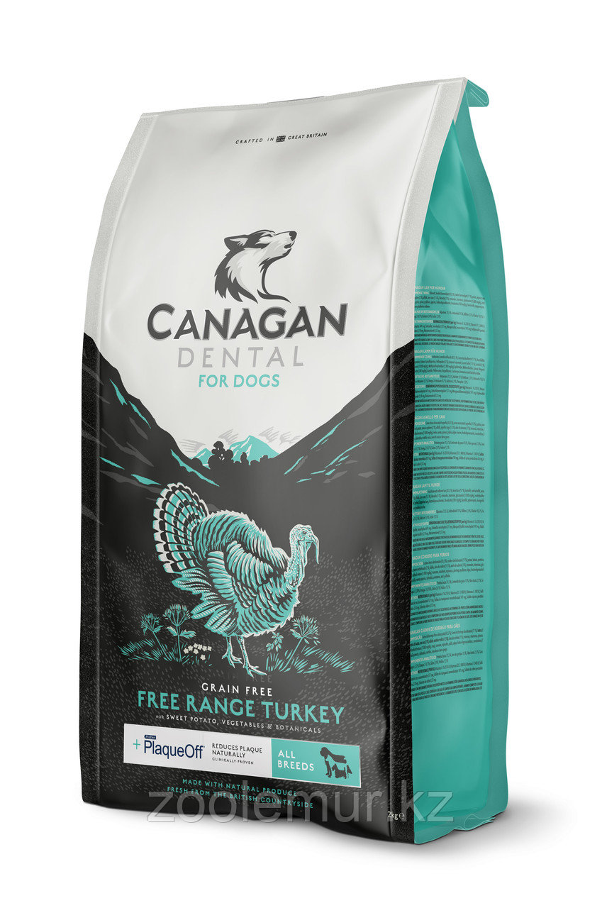 CANAGAN Grain Free, FREE-RUN TURKEY DENTAL,12 кг для собак и щенков, Индейка, ухода за полостью рта