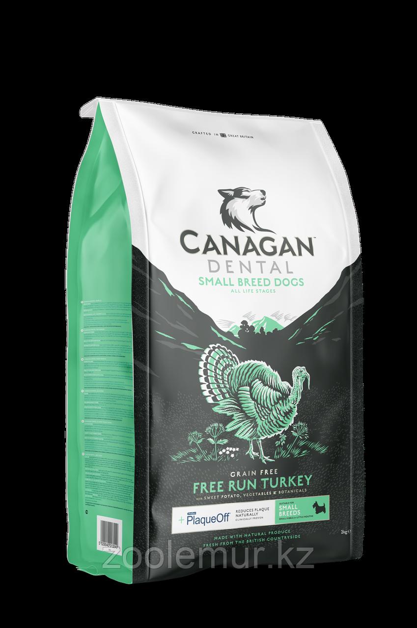 CANAGAN Grain Free, FREE-RUN TURKEY DENTAL, 2 кг для мелких собак и щенков, Индейка, ухода за полостью рта