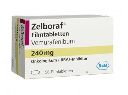 Зелбораф (Вемурафениб) Zelboraf (Vemurafenibum) 240 мг 56 таб. (Европа)
