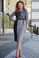 Женское осеннее большого размера платье Vittoria Queen 12433 52р.