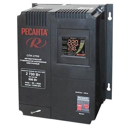 Однофазный цифровой стабилизатор пониженного напряжения РЕСАНТА СПН-2700, фото 2