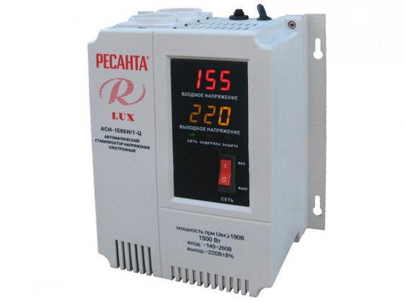 Стабилизатор напряжения серии LUX РЕСАНТА АСН-1500Н/1-Ц, фото 2