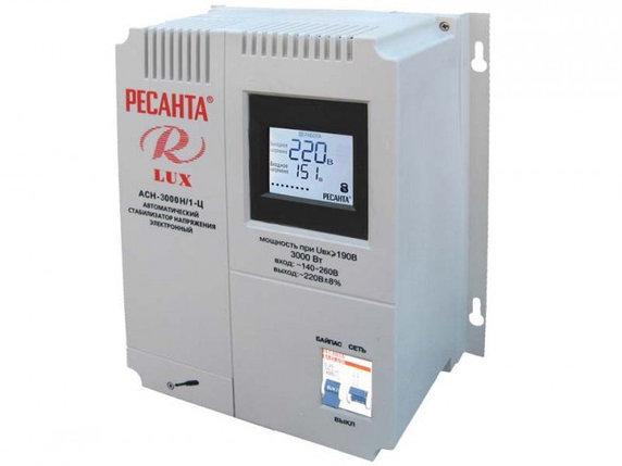 Стабилизатор напряжения серии LUX РЕСАНТА АСН-3000Н/1-Ц, фото 2