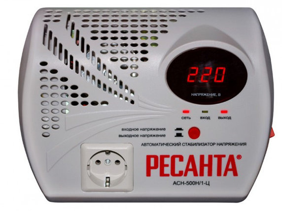 Стабилизатор напряжения серии LUX РЕСАНТА АСН-500Н/1-Ц, фото 2