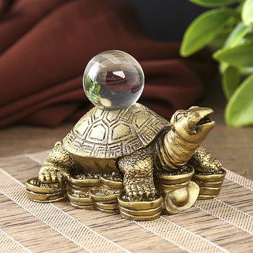Нэцкэ черепаха с кристаллом