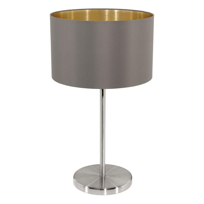 Настольная лампа MASERLO 1x60Вт E27 никель 23x23x42см