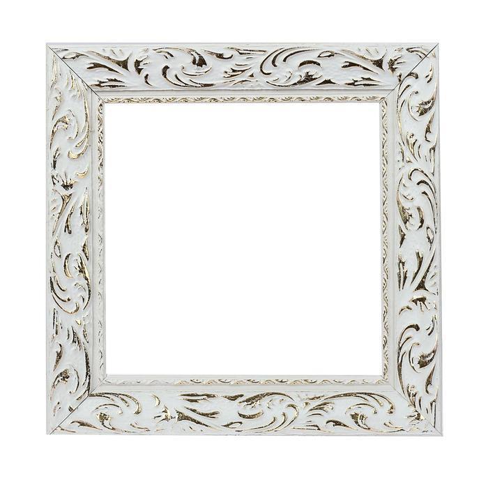 Рама для зеркал и картин, дерево, 20 х 20 х 4.0 см, «Версаль», цвет бело-золотой