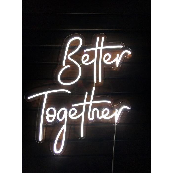 """Неоновая вывеска """"Better together"""", 66 х 62.8 см"""
