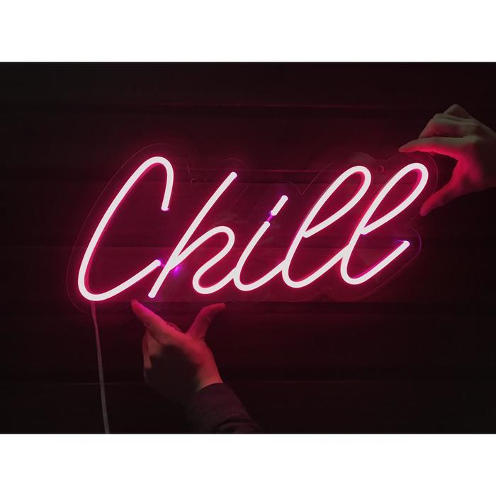 """Неоновая вывеска """"Chill"""", 47 х 19.6 см"""