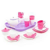 Набор детской посуды «Алиса», с подносом на 4 персоны, 35 элементов