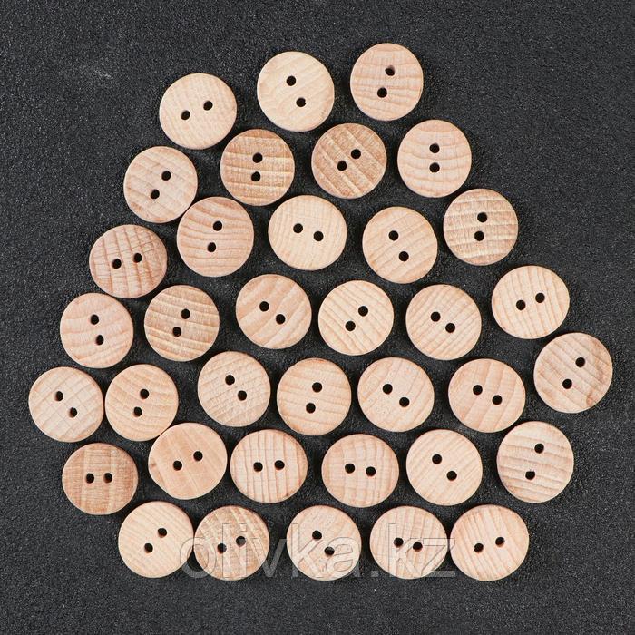 Пуговица с двумя отверстиями, 23 мм - фото 1