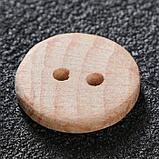 Пуговица с двумя отверстиями, 23 мм, фото 3