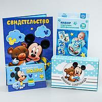 """Подарочный набор на рождение ребенка """"Наш сыночек"""", Микки Маус"""