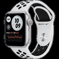 Apple Watch Nike SE, 40 мм, корпус из алюминия серебристого цвета, спортивный ремешок Nike, фото 1