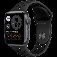 Apple Watch Nike SE, 44 мм, корпус из алюминия цвета «серый космос», спортивный ремешок Nike, фото 1