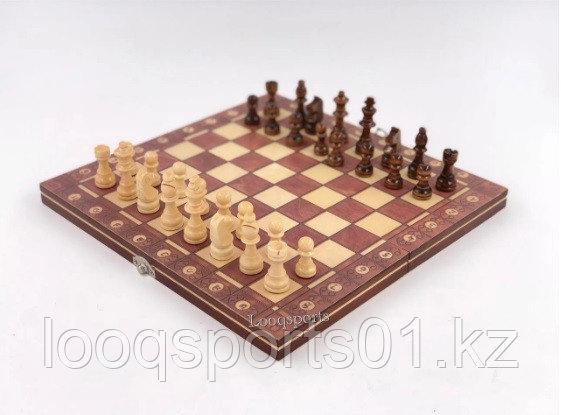 Шахматы магнитные деревянные (шашки, нарды) 3 в 1 (34х34см) - фото 4
