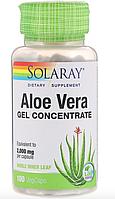 Концентрат геля алоэ вера, 100 капсул с оболочкой из ингредиентов растительного происхождения от Solaray