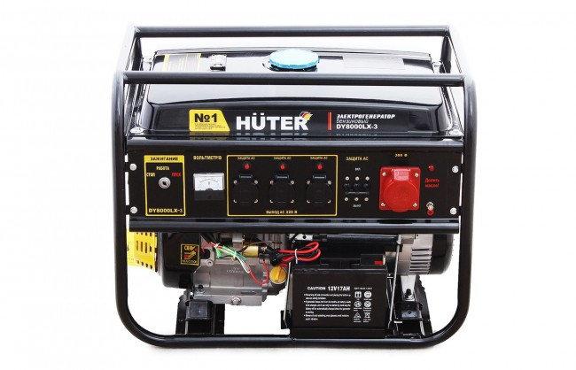 Портативный бензогенератор HUTER DY8000LX-3, фото 2