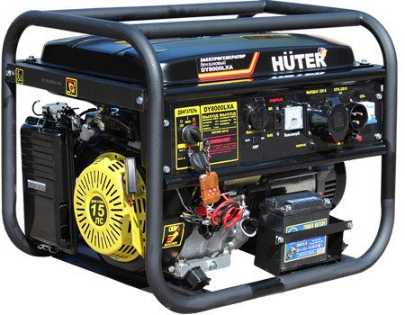 Портативный бензогенератор HUTER DY8000LXA, фото 2