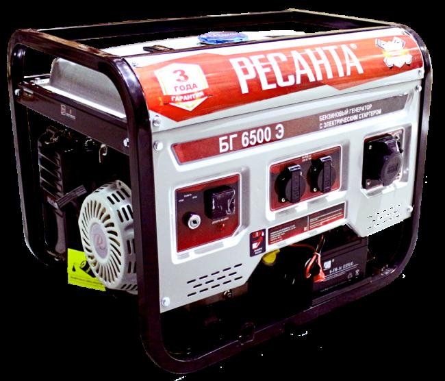 Электрогенератор БГ 6500 Э Ресанта