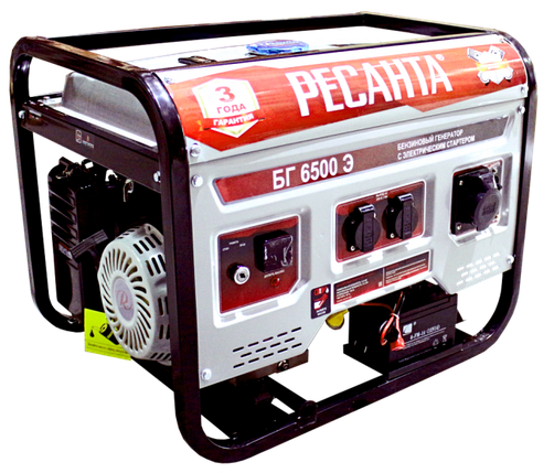Электрогенератор БГ 6500 Э Ресанта, фото 2