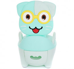 Детский горшок Pituso Котик в очках Зелёный Green