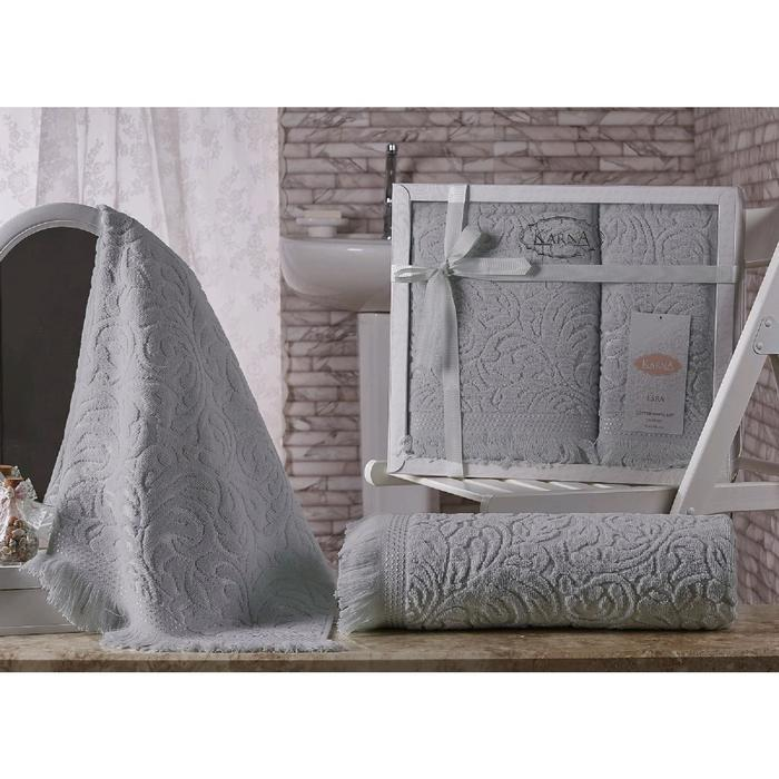 КМП «Esra», размер 50 х 90 см, 70 х 140 см, цвет серый