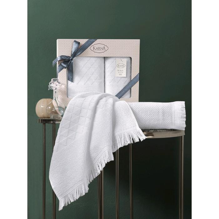 Комплект полотенец Monard 50x90 см, 70х140 см, цвет экрю