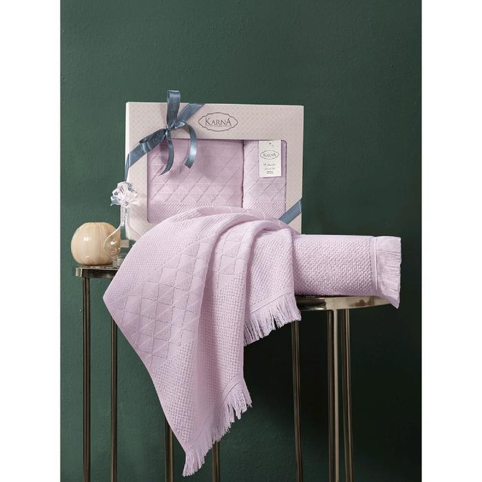 Комплект полотенец Monard 50x90 см, 70х140 см, цвет пудровый