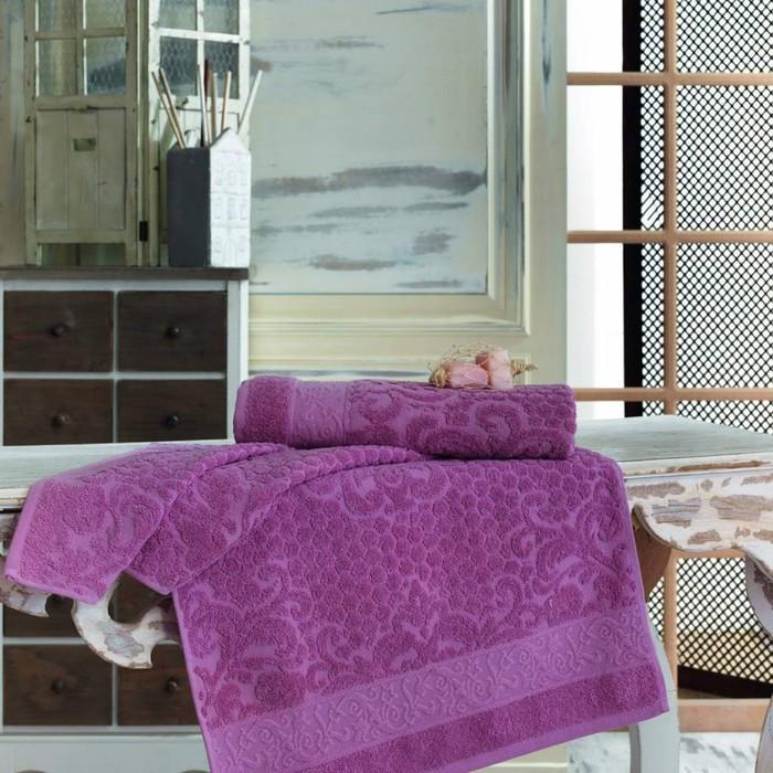 Полотенце Anji, размер 50 × 90 см, грязно-розовый
