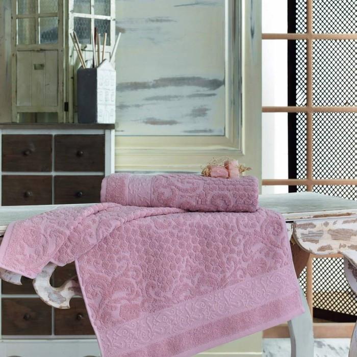 Полотенце Anji, размер 50 × 90 см, брусника