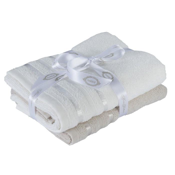 КМП Nisa, 50 × 90 см - 2 шт, бежевый/молочный