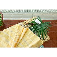 Полотенце пляжное пештемаль 100х180 см, цв желтый, 280 г/м2,хлопок 100%