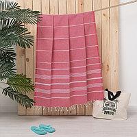 Полотенце пляжное пештемаль 100х180 см, цв красный, 280 г/м2,хлопок 100%