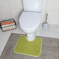Коврик для туалета 43,5×39 см цвет МИКС