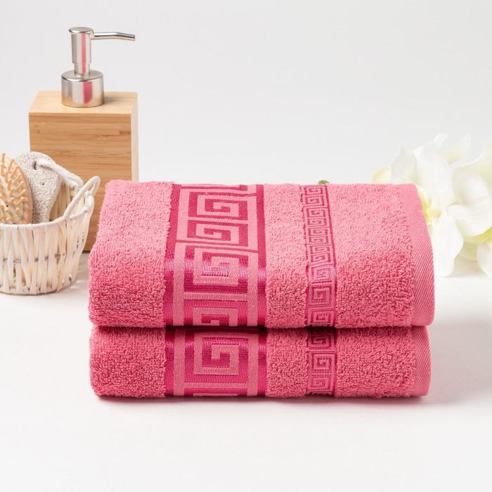 КМП в коробке Fiesta cotton 50х90см-2 шт, розовый,  хлопок 100%, 420г/м2