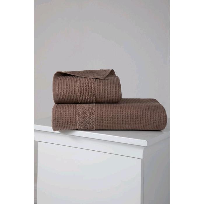 Полотенце Truva 50x100 см, цвет коричневый