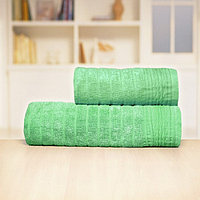 Полотенце «Бамбук», размер 33 × 70 см, зелёный, махра