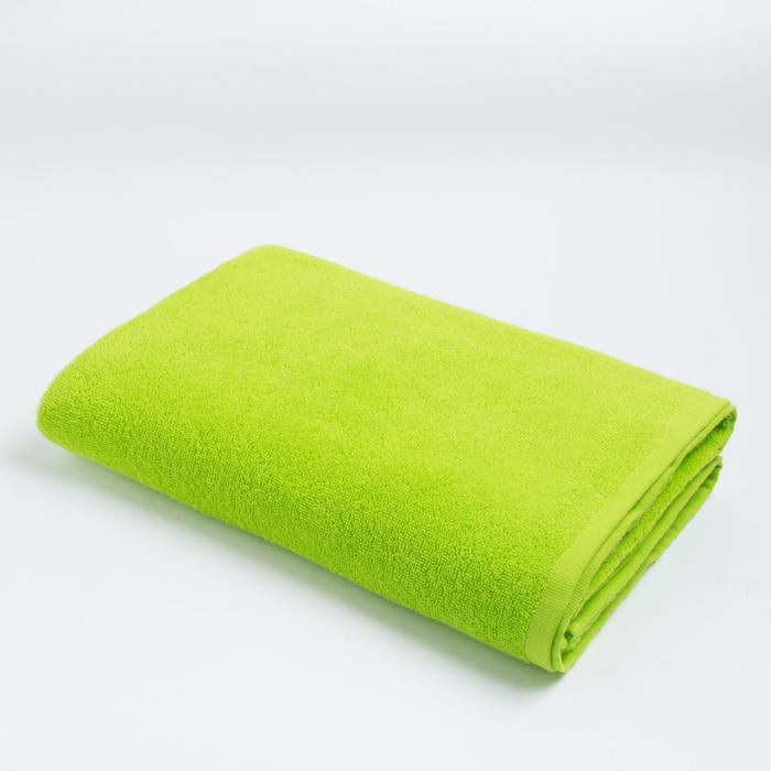 Полотенце махровое «Экономь и Я» 100х150 см, цвет ярко-зелёный