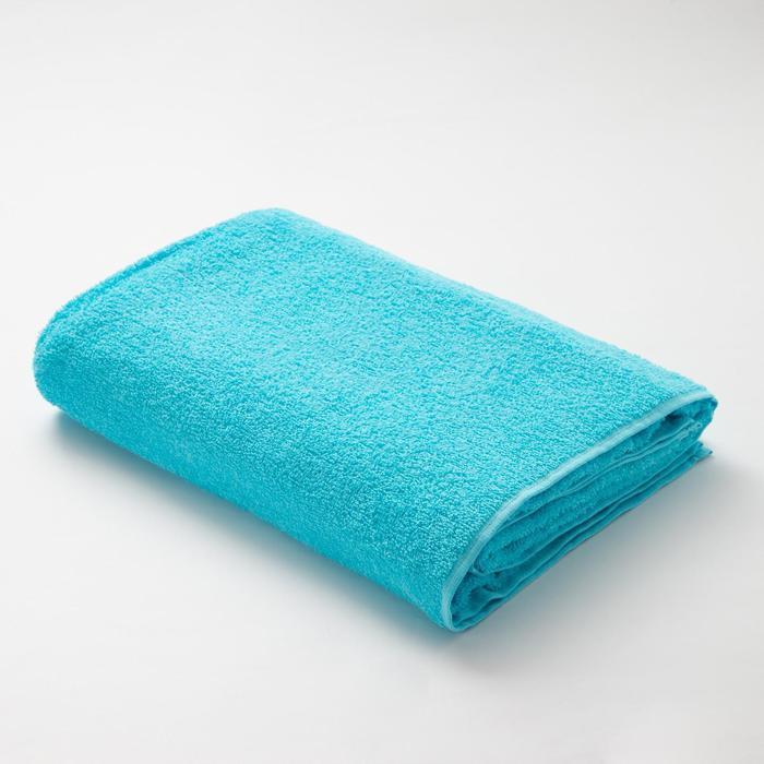 Полотенце  махровое Экономь и Я 100х150 см, цв. небесно-голубой, 100% хлопок
