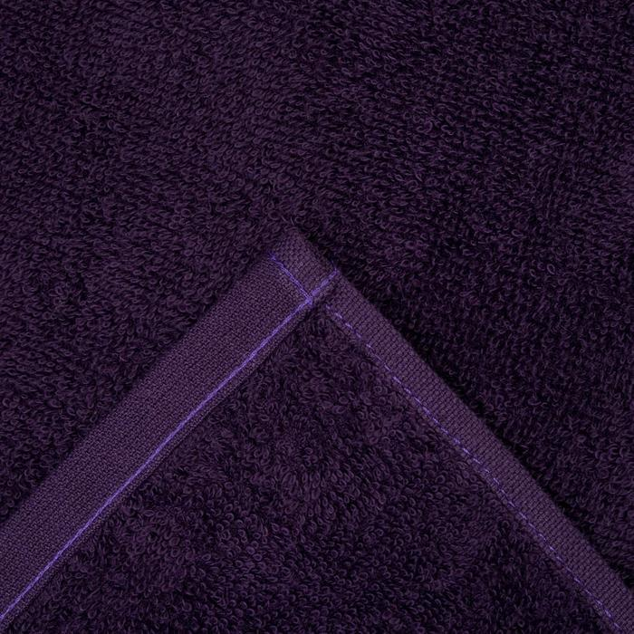 """Полотенце махровое """"Экономь и Я"""" 100х150 см фиолетовый , 100% хлопок, 340 г/м²"""