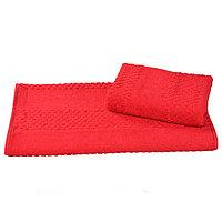 Полотенце махровое гладкокрашеное 40×70 см 360 г/м2, красный, 100% хлопок