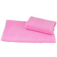 Полотенце махровое гладкокрашеное 40×70 см 360 г/м2, розовый, 100% хлопок