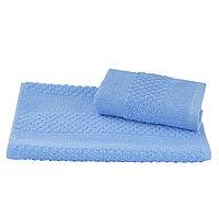 Полотенце махровое гладкокрашеное 40×70 см 360 г/м2, голубой, 100% хлопок