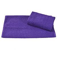 Полотенце махровое гладкокрашеное 40×70 см, 360 г/м2, фиолетовый, 100% хлопок