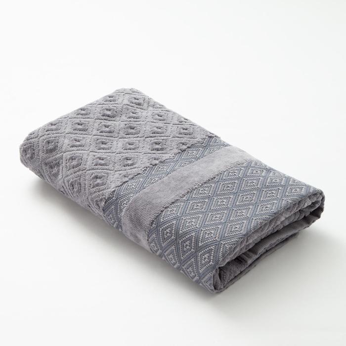 Полотенце махровое Этель цв. серый графит, 50*100 см. 670 гр/м2, 100% хлопок