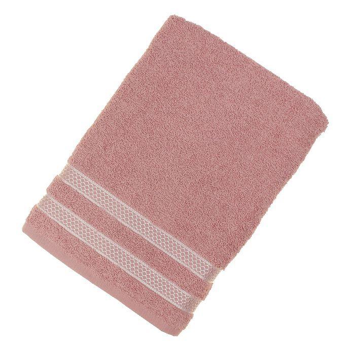 Полотенце махровое Karna Petek, 70х140 см, цв. грязно-розовый, 380г/м